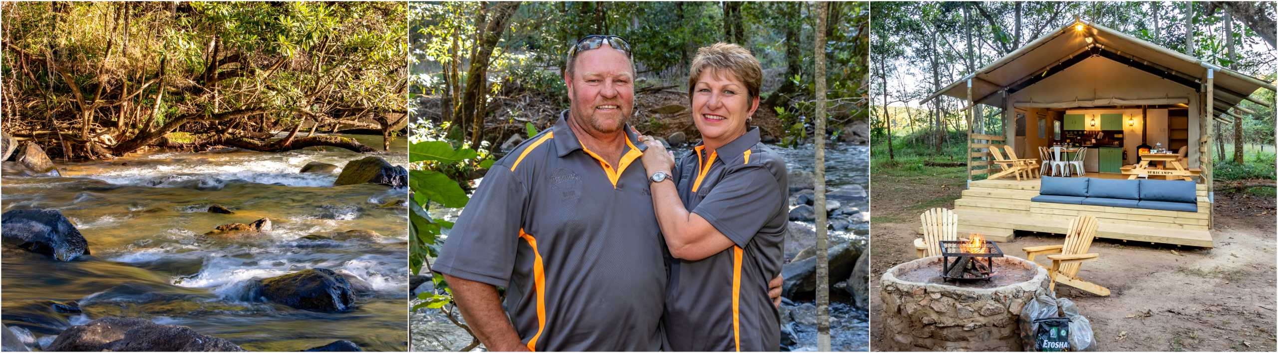 AfriCamps at Mackers Hazyview Hosts Michelle and Ryan MCain