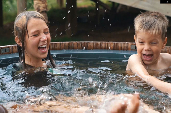 Kids love hot tubs