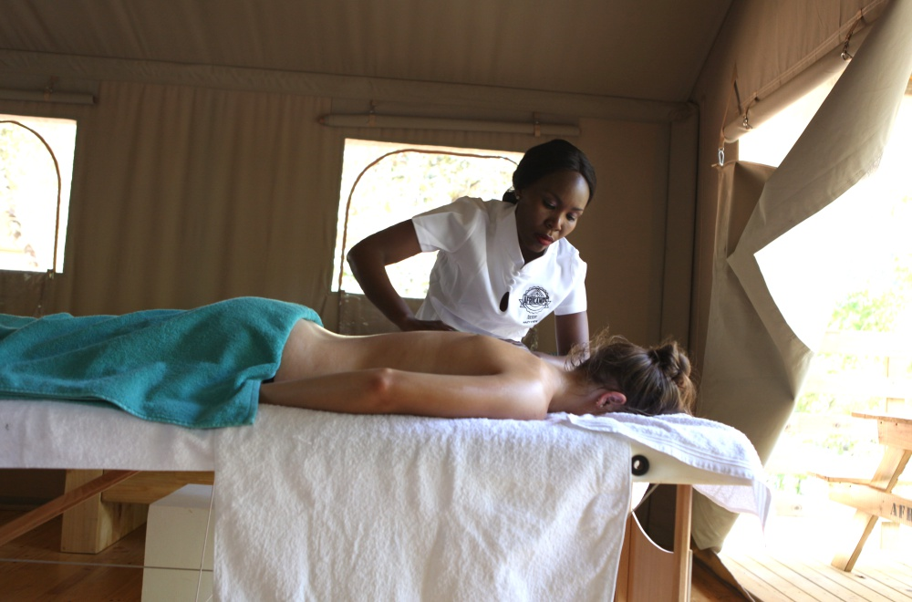 AfriCamps at Mackers Hazyview Spa Treatments in Tent