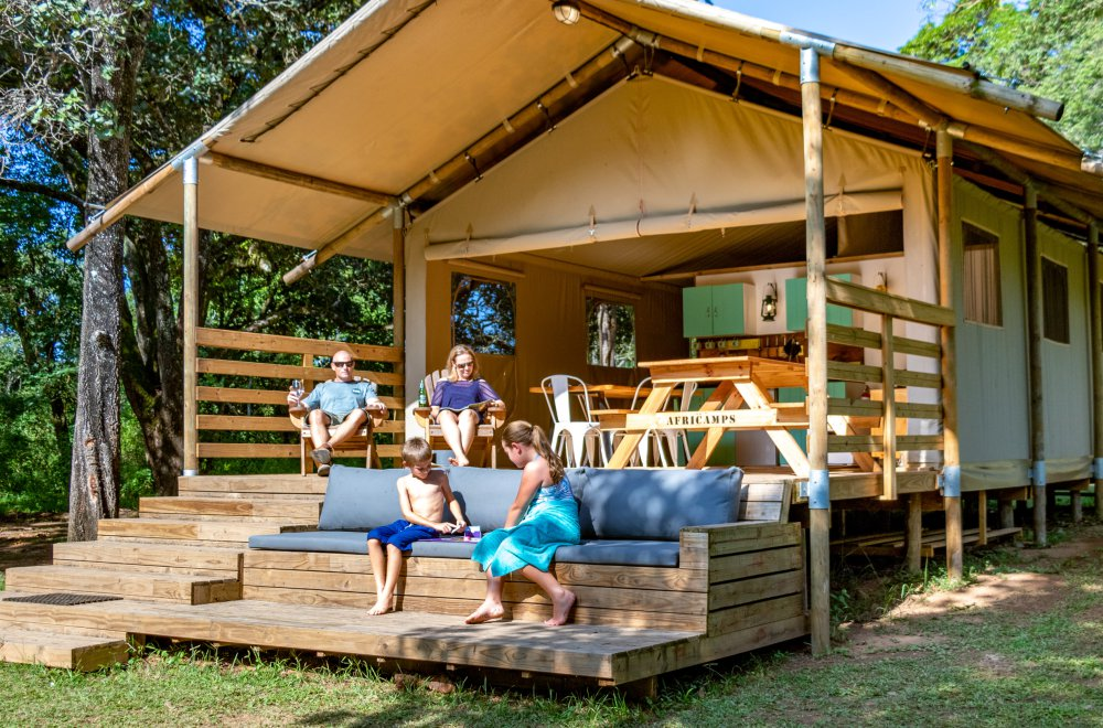 AfriCamps at Mackers Hazyview Family on Deck Glamping Tent