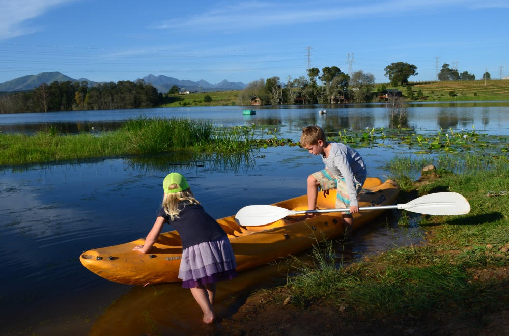 AfriCamps at Oakhurst Wilderness Canoeing on Dam