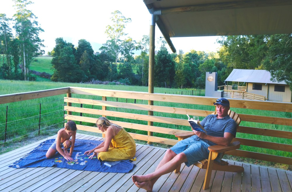 AfriCamps at Oakhurst Wilderness Family on Tent Deck