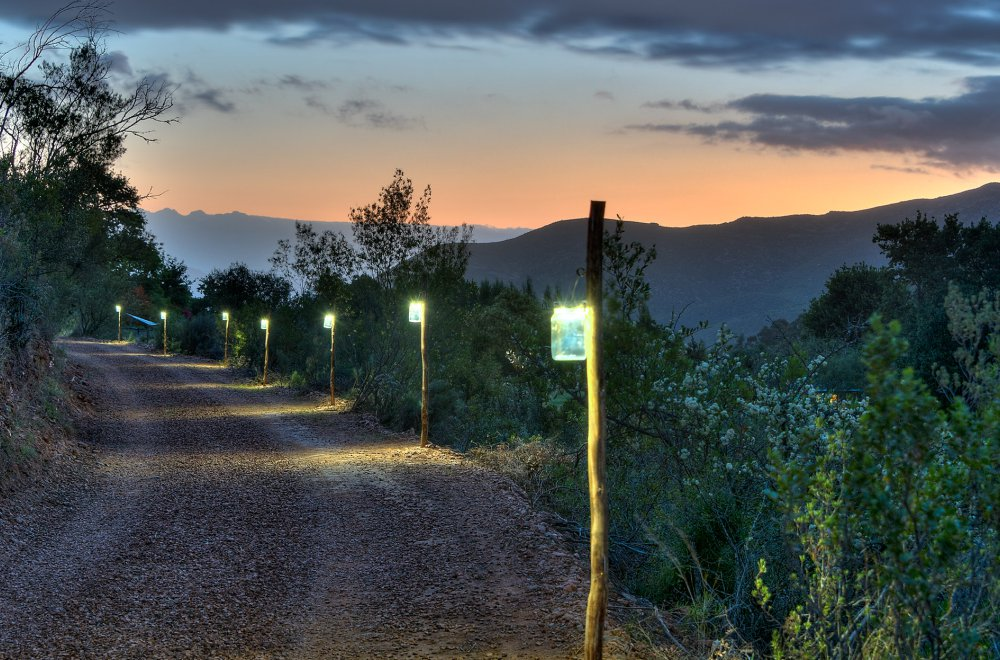 AfriCamps at Pat Busch Glamping Solar Lights on Road