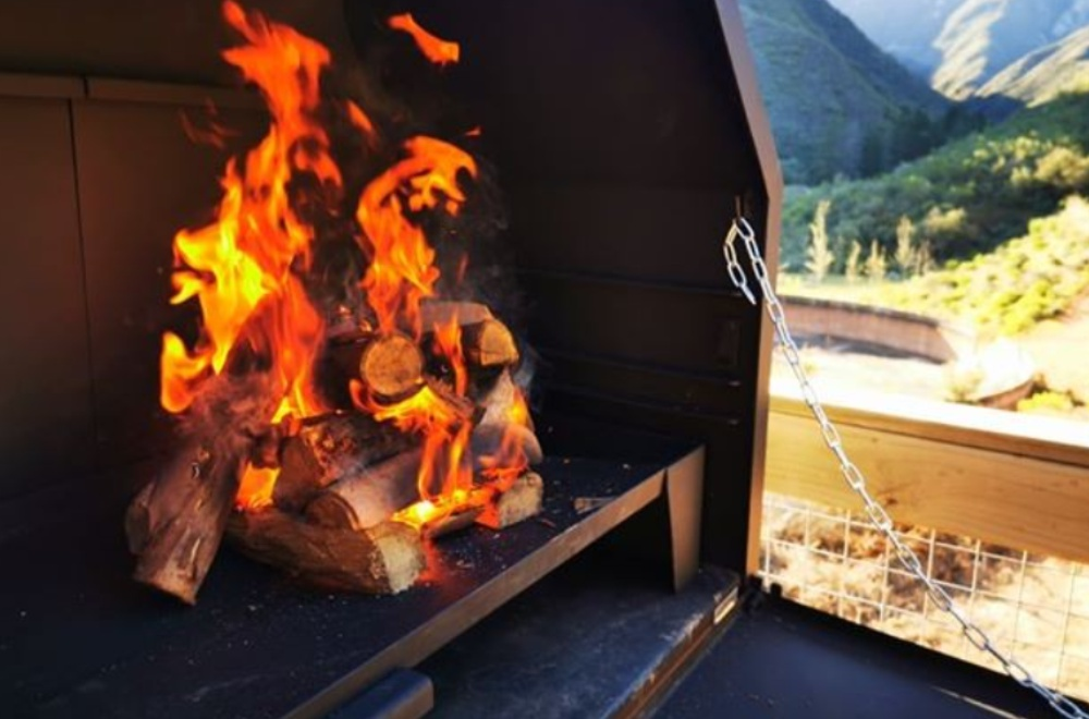 AfriCamps at Pat Busch Glamping Tent Braai and View