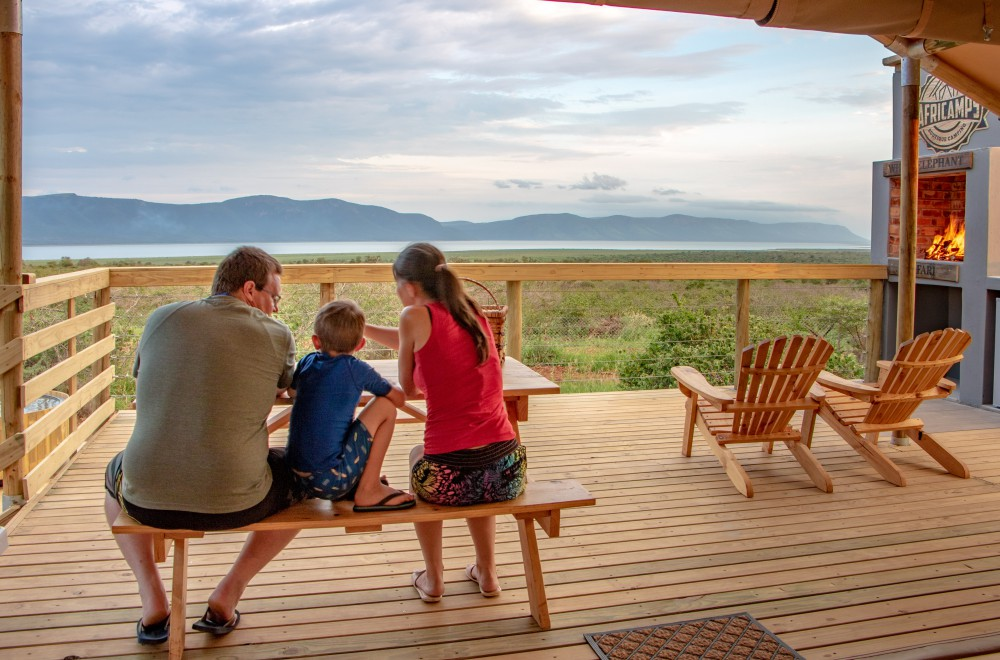 AfriCamps at White Elephant Pongola Glamping Tent Deck View