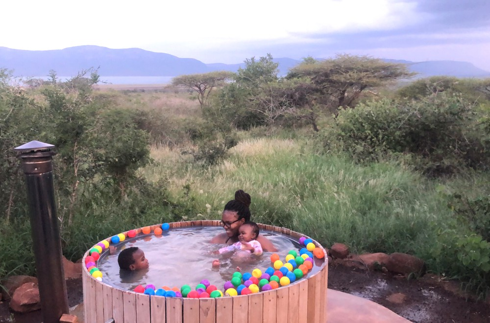 AfriCamps at White Elephant Pongola Outdoor Hot Tub Fun