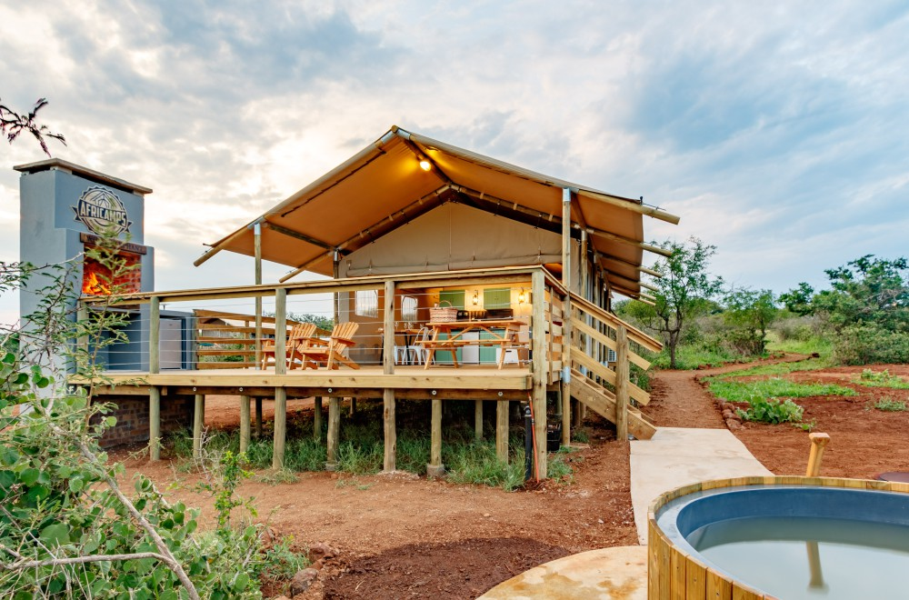 AfriCamps at White Elephant Pongola Glamping Tent Hot Tub